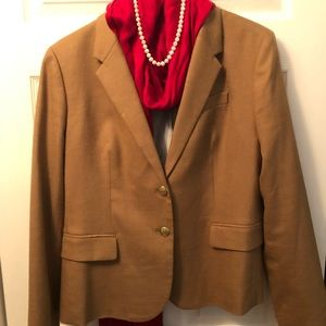 J.Crew perfect fall camel blazer